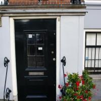 Beautiful doorway with flowers.