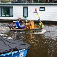Music Boat coming from a gig