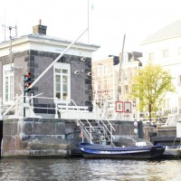 Sluises and Waternet office with electric boats