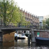 Dead-end canal and beautiful houses