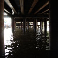 Under the bridge construction