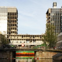 Amsterdam University building demolition project