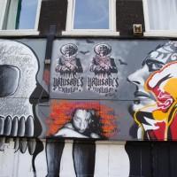 Random street art on a squatter house on Ferdinand Bol