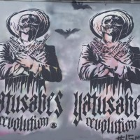 Quoting PitBull, Ya Tu Sabes? Madrid graffiti crew art on a squatted house
