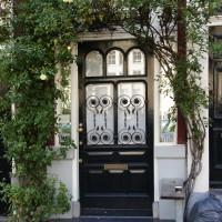 Door with arbor