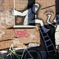 Burglar graffiti