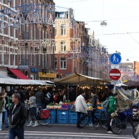 Tenkatemarkt street market, so busy and so good!