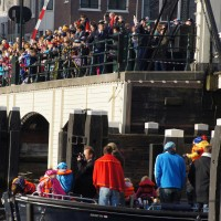 Magerebrug is opening for the ship of Sinterklaas