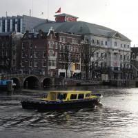 Yellow boat cruising around and harrassing everyone needlessly.