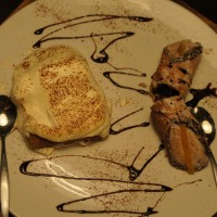 Pazzi dessert of tiramisu and canoli . . . mmmm.