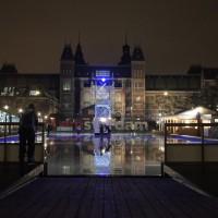 Ice skating rink behind the Rijksmuseum