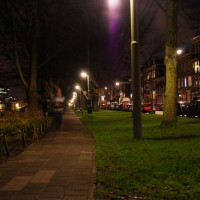 Ghost runner on Weesperzijde park