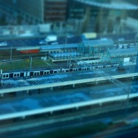 Miniature train station at the World Trade Center, Station Zuid Amsterdam