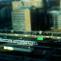 Miniature metro train at Station Zuid Amsterdam