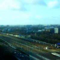 Miniature train tracks at Station Zuid Amsterdam
