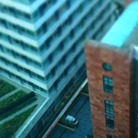 Miniature buildings at Station Zuid Amsterdam