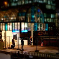 Miniature people at Station Zuid Amsterdam