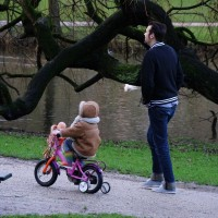 New bike! Still has 4 wheels. Start 'em out early in the Netherlands