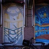 Random graffiti on an apartment front
