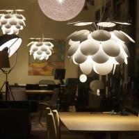 Funky lamps in a shop window