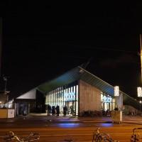 Entrance to Albert Heijn supermarket and underground parking on the Museumplein