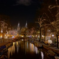 The Nieuwe Spiegelgracht with the Rijksmuseum at the end.