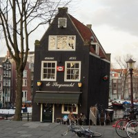 Cafe de Sluyswacht (Sluis Watch) built 1695, leaning slightly