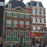 Rembrandt's House (with the green windows)