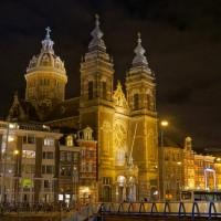 The Saint Nicholas church across the street from Centraal Station