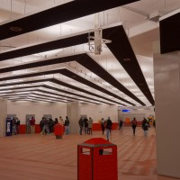 The groovy new Metro underground station at Centraal Station