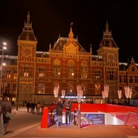 Metro entrance in front of Centraal Station