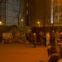 Townhall meeting of the Occupy movement in the camp on the Beursplein