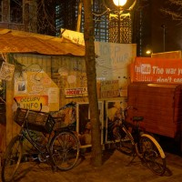 Information center of the Occupy camp on the Beursplein