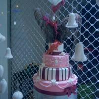 Mmm, cake in a shop window.