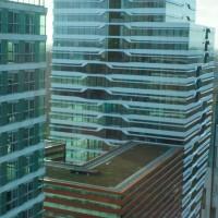 Neighboring buildings looking west