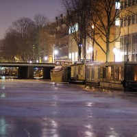 HDR Ice on the Nieuwe Prinsengracht