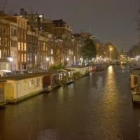 Looking east down the Nieuwe Prinsengracht from the Amstel bridge