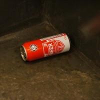 Euro-shopper 'Beer' in the subway. I secretly think it's Heineken
