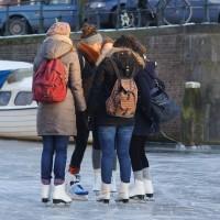 Students making a skating plan.