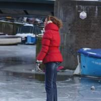 Lady skating.