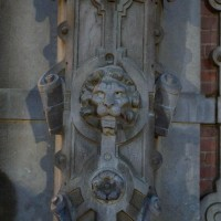 Detail on the entrance to the converted houses.