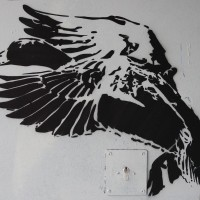 Quack. Random street art stencil