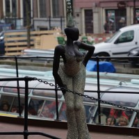 Statue on Fabrice's boat