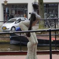 Statue on Fabrice Hund's boat