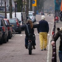 German guy on his chopper bike