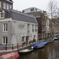 One of the few free-standing houses in Amsterdam