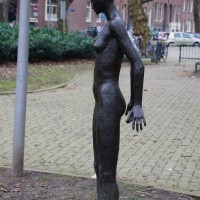 Statue in a park near Westerpark