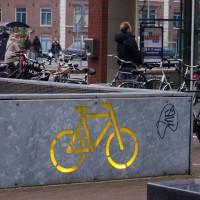 Bike parking at the health club