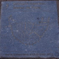 Plaque marking the former site of one of the city wall windmills