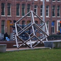 One of the coolest playgrounds in the city, looks like the Atomium in Brussels.